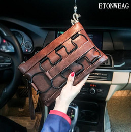 coolest phone holders 2019 - Factory wholesale men handbag street cool men clutch fashion leather business clutch personality multifunctional leather
