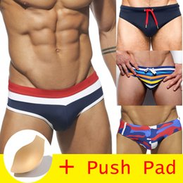 f67789a48a HIBUBBLE 17 Styles Swimwear Men Brief With Push Pad Sexy Swimsuit  Waterproof Swimming Trunks For Bathing Swim Shorts Sunga Hot