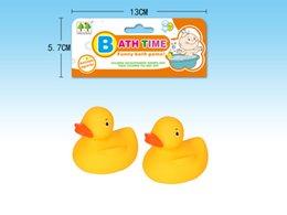 Wholesale Baby Bath Water Duck Toy Tiny Mini Yellow Rubber Ducks 2pcs mesh bag