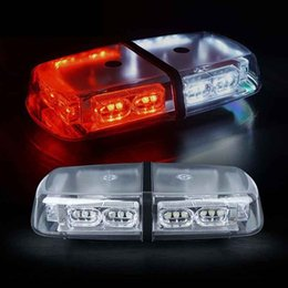 Roof Magnet Australia - Red White 36 LED 18 Watts Roof Top Hign Intensity Law Enforcement Emergency Hazard Warning LED Mini Bar Strobe Light with magnet
