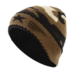 eff7e0153c63 Camouflage Winter Knitted Hats For Man Women 2019 Unisex Hat Male Female  Soft Baggy Beanies Casual Acrylic Slouchy Hat Ski Cap