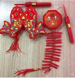 Som Ano Novo Chinês Ano Novo Luzes Decorativas Portátil LED Brinquedo das Crianças Bateria Eletrônico Luz de Foguete