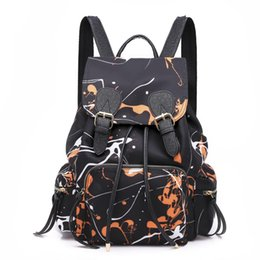 $enCountryForm.capitalKeyWord NZ - New Backpack Women's Nylon Doodle Korean Style Women Bag Backpack Purse For Teenagers Leisure Backpacks Female Rucksack