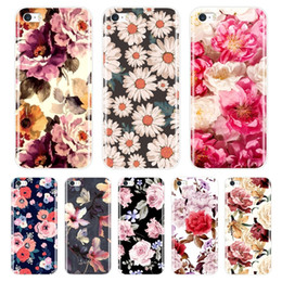 cute cases for iphone 5c NZ - Phone Case For Iphone Se 5s 5 S 5c Soft Silicone Tpu Ultra Thin Cute Flower Floral Back Cover For Iphone 4s 4 S Case