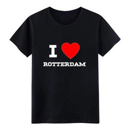$enCountryForm.capitalKeyWord Australia - Men's i love Rotterdam t shirt Design Short Sleeve plus size 3xl cool Graphic Comical Spring Letters shirt