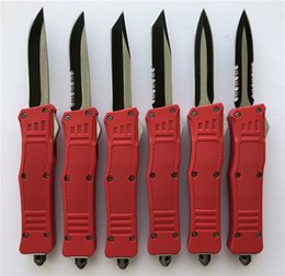 $enCountryForm.capitalKeyWord Australia - Mini size Red 616 Small D A AUTO Outdoor knife Camping EDC Tools Tactical Hiking Hunting Pocket Xmas Gift Knives For Men P950M R