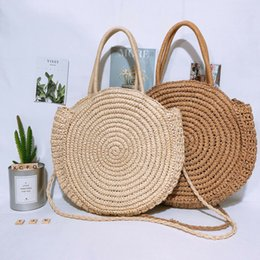 Boho Shoulder Bags Australia - 2019 Newest Hot Women Shoulder Bag Boho Style Circular Straw Rattan Wicker Woven Round Messenger Handbag Beach Travel Purse