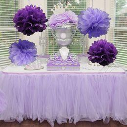$enCountryForm.capitalKeyWord Australia - pom gift bows 5pcs Pack 15,20cm,25cm Lavender Purple Tissue Paper Poms For Baby Girl Princess Birthday Party Wedding Party Decoration