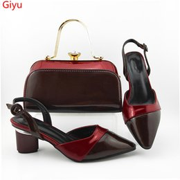 ShoeS purSe match online shopping - doershow italian wine shoes and bag set women wedding shoes and matching purse for women party HYG1