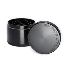 Cigarette smoke deteCtors online shopping - 63mm Aluminum space case Grinder Tobacco Smoke Cigarette Detector Grinding layer Smoke Tobacco Grinder Fit Dry Herb Black Silver HH7
