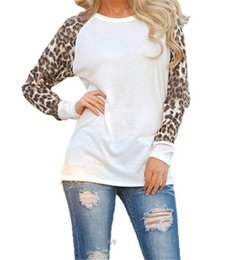 t shirt style women large NZ - Design Woman tops New Large-size Women's Loose fitting luxury T shirts with Leopard Print Chiffon Long brand sleeved Tops fashion style top