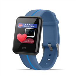 Discount korean phone straps - Hot F5 smart bracelet 1.3 inch large screen two-color strap with step new heart rate blood pressure IP67 waterproof long