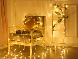 Starry String Lights Wholesale Australia - Led Lantern string outdoor waterproof starry wedding decoration lights Christmas decoration bar i small lights string lights