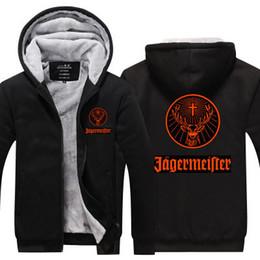 Eco friEndly zippErs online shopping - 2019 winter hoody JAGERMEISTER Men women Thicken autumn Hoodies clothes sweatshirts Zipper jacket fleece hoodie streetwear