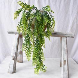 Artificial Plants For Green Walls NZ - one Artificial Green Wall Plant Fake Plastic Green Hanging Grass for Floral Arrangement Part Wedding Decoration