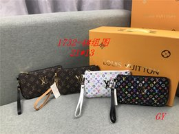 Wholesale Fashion letter color printing long handbag men personality mini storage bag women mini mobile phone lipstick banknote clutch bags Coin Purse