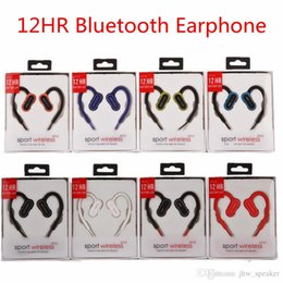 Iphone Ear Australia - Hook Earphones Newest 12HR Bluetooth Headphone Wireless Sports Running Headsets Ear Hook Earbuds With Mic for iphone samsung with retail box
