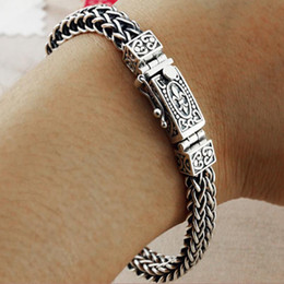 $enCountryForm.capitalKeyWord Australia - Real 925 Sterling Silver Bracelet For Men Women Width 8mm Vintage Punk Rock Wire-cable Link Chain&bracelets Thai Silver Jewelry MX190727