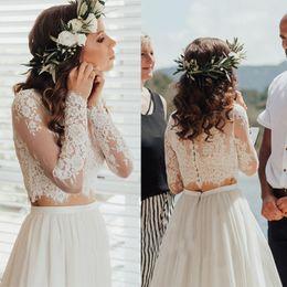 Shrugging Jacket Australia - New Fashion Wedding Jacket Lace Top Applique Bridal Bolero Long Sleeves Jacket Shrug White Ivory Custom Made
