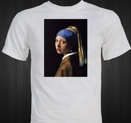 "paintings famous men NZ - Vermeer ""Girl with the Pearl Earring"" famous painting art masterpiece T-shirt Men Women Unisex Fashion tshirt Free Shipping"