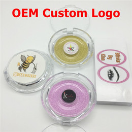 Wholesale OEM Custom Logo Sticker Service 3D Mink Eyelashes Magnetic Eyelashes Private Logo False Eyelash Logo Makeup