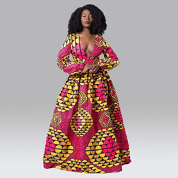 long sleeve african print dresses Australia - Dashiki African Dresses For Women Autumn Bazin Ankara Dresses Long Sleeve Plus Size Afriacn Print Clothes For Women