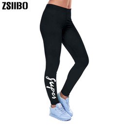 $enCountryForm.capitalKeyWord NZ - Super Letter Print Leggings Women Lady Black Legging Spring Summer Autumn New 2019 Fashion Sexy Elastic Waist Legging Women