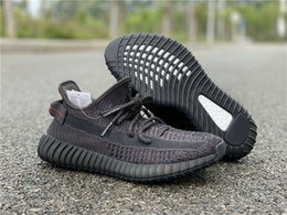 ShoeS amazing online shopping - High Quality Triple Black Mens Designer Athletic Shoes Amazing Black Red Kanye West Fashion Woman Sport Sneakers Come With Box