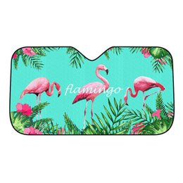 car sunscreen shade Australia - 1 PC Car Front Windshield Sun Block Flamingo Tropical Rainforest Sunscreen Thermal Shading Summer Curtain Various Patterns Ins