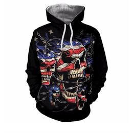 6aaba079db0 Skeleton Skull American Flag Hoodies Men Women Nice Autumn Winter Brand  Hoody Tops Sudadera Hombre Casual 2d Sweatshirt Dropship