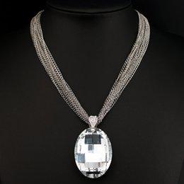 $enCountryForm.capitalKeyWord Australia - Fashion Big Glass Crystal Pendant Necklace Statement Chunky Multi-Chain Short Necklace New Luxury Crystal Stone Necklace X1618