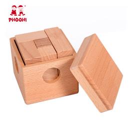 Legno Soma Piazza Blocco cubo di puzzle bambino che impara Montessori Giocattoli prescolare giocattoli educativi dei capretti bambino che impara in Offerta