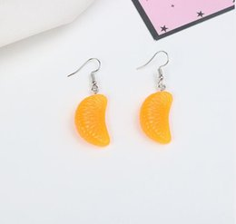 Fruit Cream Cake Australia - Interesting Food Fruit Drop Earrings Resin Creative Ice cream cone cake chocolate orange grapes earrings Funny Party Jewelry