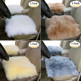 $enCountryForm.capitalKeyWord Australia - Car Wool Plush Cushion Office Household Seat Cover Breathable Non-slip Front Row Single Seat Covers Universal Beige Gray White