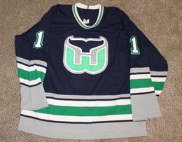 Hartford Whalers Blue Jersey Australia - Rare Vintage Mike Luit Hartford  Whalers Hockey Jersey Embroidery Stitched 11b6ff02c5e