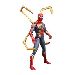 scale pvc action figure model toy UK - Iron Spider Variant Action Figure 1 8 Scale Painted Figure Avengers 3 Infinity War Iron Spider Pvc Figure Toy Brinquedos Anime Y19062901