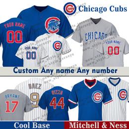 675292f42aa 9 Javier Baez Custom Cubs Chicago jersey 13 David Bote 41 John Lackey 5  Albert Almora JR 8 Andre Dawson Baseball Jerseys