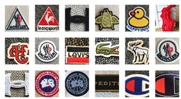 EmbroidEry clothEs stickErs online shopping - Differents Styles Animals Parches Embroidery Iron on Patches for Clothing DIY Foods Stripes Clothes UFO Stickers Appliques