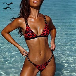 $enCountryForm.capitalKeyWord Australia - Bikinx Leopard Print Micro Bikini 2019 Summer Triangle Red Swimsuit Female Bathing Suit High Cut Sexy Swimwear Women Biquinis Y19072501
