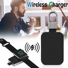 $enCountryForm.capitalKeyWord Australia - External Battery Pack QI Wireless Charger for Apple Watch Wireless Charger Power Bank 950mah Portable Outdoor charger For iWatch 1 2 3 4
