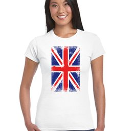 britain flags Australia - Distressed Union Jack Womens Flag T-Shirt Britain Football Rugby England Wales