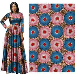 Venta al por mayor de Ankara Africano Poliéster Cera Impresiones Tela Binta Binta Real Cera Alta Calidad 6 Yardas / Lote Tela Africana Para Vestido De Partido