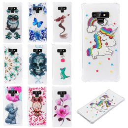 $enCountryForm.capitalKeyWord Australia - Soft pattern Clear Slim Fit TPU Back Case For Samsung Note 8 Note 9 Samsung S9+ S9 Plus S10 S10e Air Cushion Shockproof Crystal Bumper