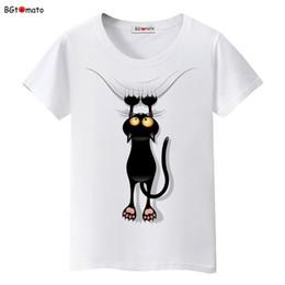 Originals T Shirts NZ - Bgtomato Hot Sale Summer Naughty Black Cat 3d T Shirt Women Lovely Cartoon Tshirt Good Quality Original Brand Shirts Casual Tops C19041901