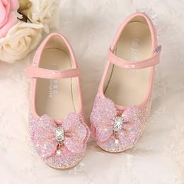 1c1867f31c6 Light Pink Shiny Cinderella Sequins Shoes Designer Fashion Luxury Brand  Girl Shoes Big Bow Designer Shoes Full Sequins Kids Formal Wear
