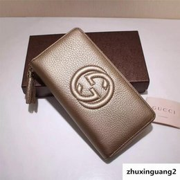 $enCountryForm.capitalKeyWord Australia - Top Quality Luxury Celebrity Design Letter Embossing Zipper Wallet Long Purse Real Cowhide Canvas Leather 308004 Clutch