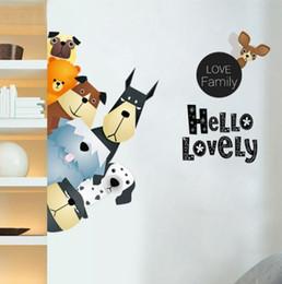 $enCountryForm.capitalKeyWord Canada - cartoon animal dog paw print Wall Sticker Removable Double Sided Visual Pattern kid's room Home Decoration House Wallpaper wn660