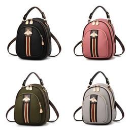 Discount little backpacks for girls - Little Bee Single Shoulder Bag Luxury Designer Backpack PU Travel Handbag For Lady Women Girl Fashion 6 Colors 30lz D1