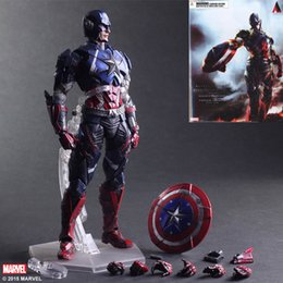 Movable toy doll online shopping - Movie Figure CM The Avengers Captain America Joint movable PVC Action Figure Model Collectible Toy doll lol