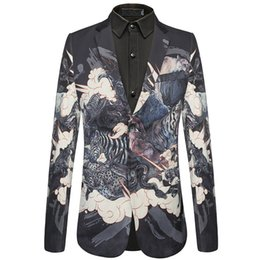 jacket tiger Australia - Mens Velvet Blazers Bear Tiger Pattern Animal Printed Blazer Jacket Male Stage Prom Blazer Free Shipping